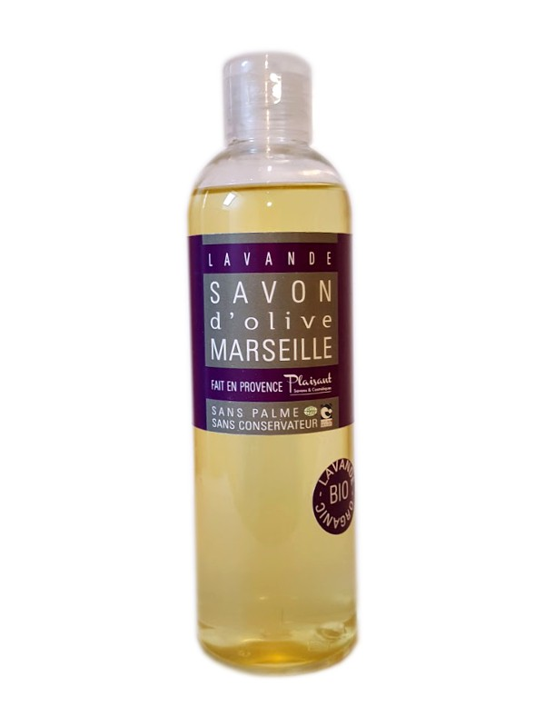 Organic shower gel with essential oil of lavander - 250 ml - Plaisant soaps & cosmetics